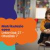 Matriculación 2020 Educación Infantil, Primaria y Secundaria